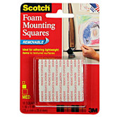 Scotch Removable Foam Mounting Squares - 1""